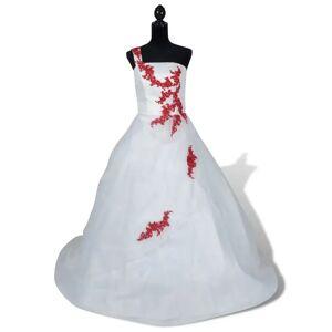 vidaXL Rochie de mireasă elegantă modelul A mărimea 36