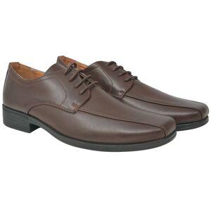 vidaXL Pantofi bărbătești cu șiret, piele PU, maro, mărimea 42