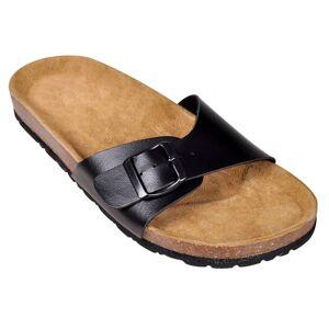 vidaXL Sandale unisex din plută bio, 1 curea cu cataramă, mărime 37, negru