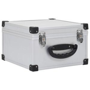 vidaXL Casetă pentru 40 CD-uri, argintiu, aluminiu ABS