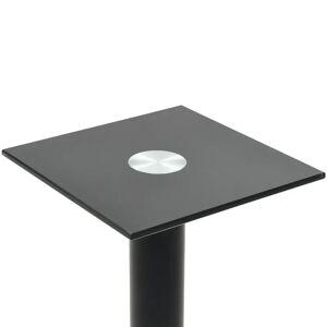 vidaXL Suporturi boxe, 2 buc., sticlă călită, design 1 picior, negru