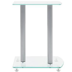 vidaXL Suport pentru boxe, Sticlă securizată transparentă (2 buc.)