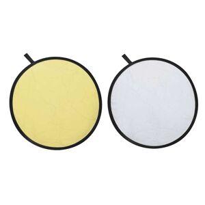 vidaXL Fundal rotund tip blenda cu două fețe auriu/argintiu