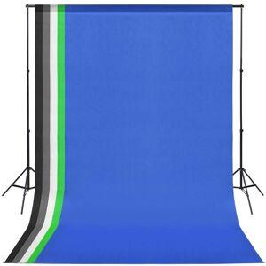 vidaXL Kit studio foto cu 5 decoruri colorate și ramă ajustabilă