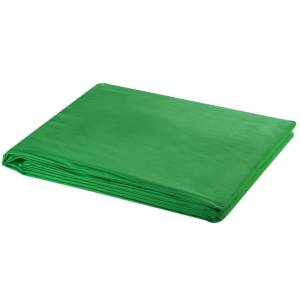 vidaXL Fundal foto, bumbac, verde, 600 x 300 cm, Chroma Key