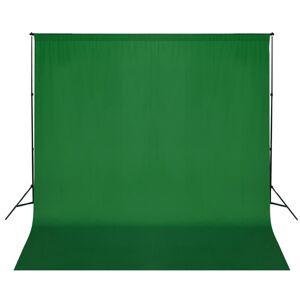 vidaXL Sistem de suport fundal, 600 x 300 cm, verde