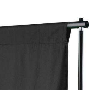 vidaXL Sistem de suport fundal, 600 x 300 cm, negru