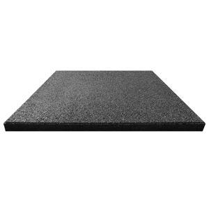 vidaXL Plăci de protecție la cădere 24 buc. negru 50x50x3 cm cauciuc