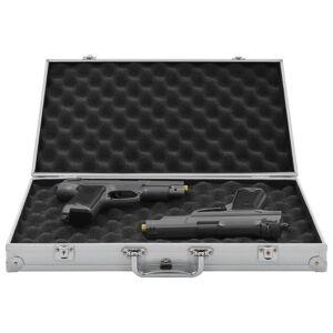 vidaXL Valiză pentru armă, argintiu, aluminiu ABS