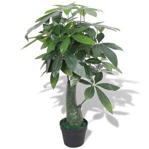 vidaXL Plantă artificială Arborele norocos cu ghiveci, 85 cm, verde