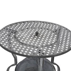 vidaXL Grătar cu cărbuni, gri antichizat, 70 x 67 cm