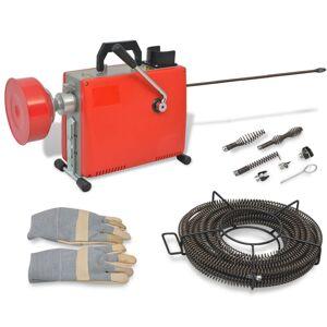vidaXL Mașină de curățat țevi, 250 W, 15 m x 16 mm, 4,5 m x 9,5 mm