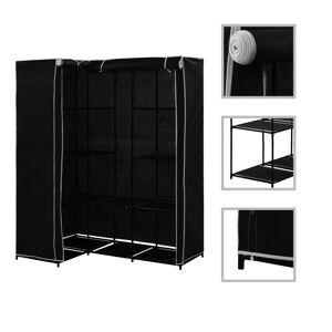 vidaXL Șifonier de colț, negru, 130 x 87 x 169 cm