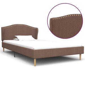 vidaXL Cadru de pat, maro, 90 x 200 cm, material textil