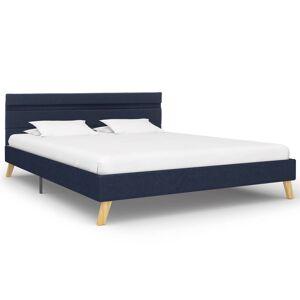vidaXL Cadru de pat cu LED-uri, albastru, 140x200cm, material textil