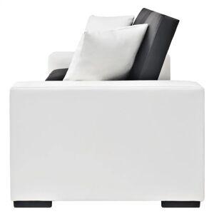 vidaXL Canapea extensibilă cu brațe, PVC, negru, reglabil