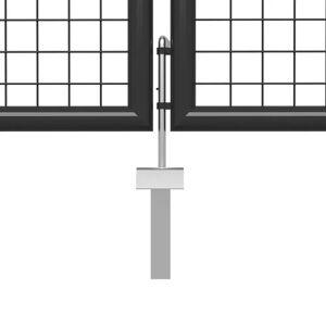 vidaXL Poartă de grădină, antracit, 500 x 200 cm, oțel