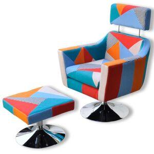 vidaXL Fotoliu TV cu model mozaic, material textil