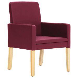 vidaXL Scaune de sufragerie, 2 buc., roșu vin, piele ecologică