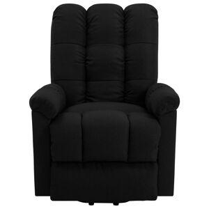 vidaXL Fotoliu rabatabil ridicare verticală, negru, material textil