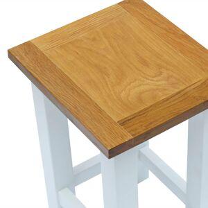 vidaXL Masă de capăt, 27 x 24 x 37 cm, lemn masiv de stejar