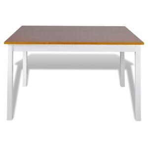 vidaXL Set mobilier de bucătărie, 5 piese, maro și alb