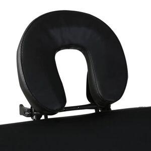 vidaXL Masă de masaj pliabilă 2 părți cadru din lemn Negru