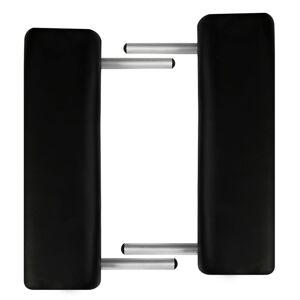 vidaXL Masă de masaj pliabilă 2 părți cadru din aluminiu Negru