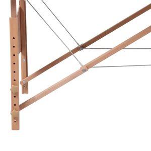 vidaXL Masă pliabilă pentru masaj cu 4 secțiuni și cadru din lemn