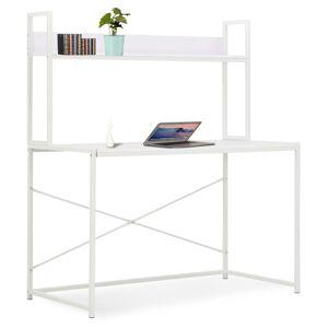 vidaXL Birou de calculator, alb, 120 x 60 x 138 cm