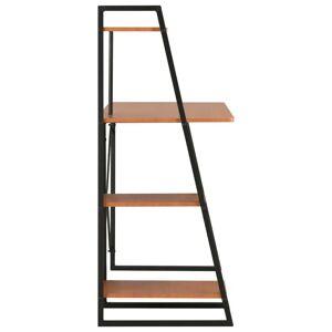 vidaXL Birou cu rafturi, negru și maro, 102 x 50 x 117 cm