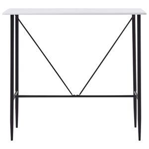 vidaXL Masă de bar, alb, 120 x 60 x 110 cm, MDF