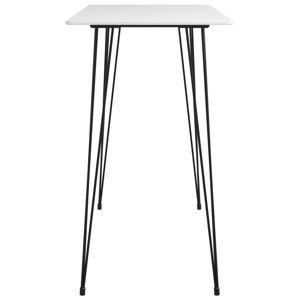 vidaXL Masă de bar, alb, 120 x 60 x 105 cm