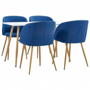 vidaXL Set bucătărie, 5 piese, material textil, albastru