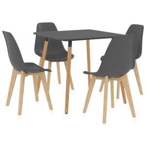 vidaXL Set mobilier de bucătărie, 5 piese, gri