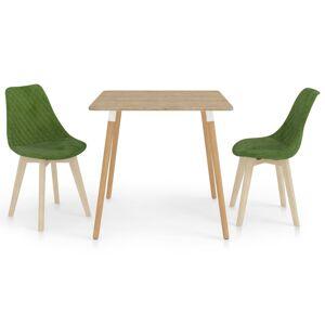 vidaXL Set de masă, 3 piese, verde deschis