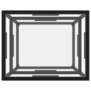 vidaXL Masă consolă, transparent, 50 x 40 x 40 cm, sticlă securizată