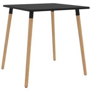 vidaXL Set de masă, 5 piese, negru