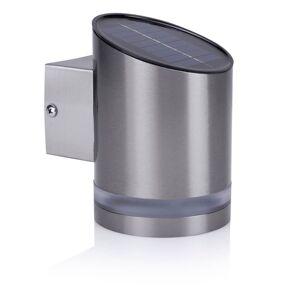 Smartwares Lampă solară de perete cu senzor, 0,5 W argintiu GWS-002-DS