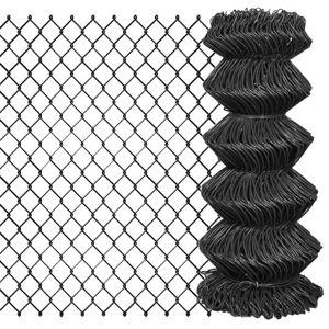 vidaXL Gard plasă de sârmă, gri, 15 x 0,8 m, oțel