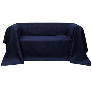 vidaXL Husă din velur micro-fibră pentru canapea, 140 x 210 cm, bleumarin