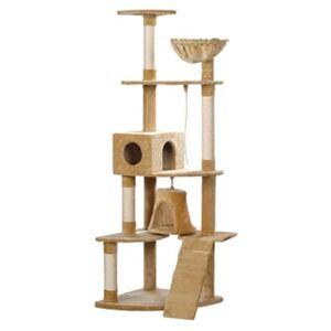 vidaXL Ansamblu din sisal pentru pisici 191 cm, Bej