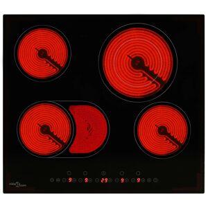 vidaXL Plită ceramică cu 4 arzătoare, control tactil, 6600 W