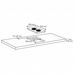 vidaXL Plită cu inducție cu 2 arzătoare, control tactil, sticlă 3500 W