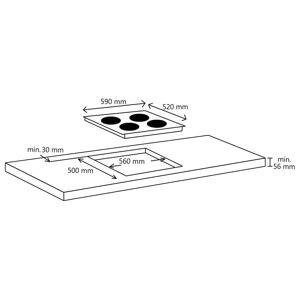 vidaXL Plită cu inducție 4 arzătoare control tactil sticlă 7000 W