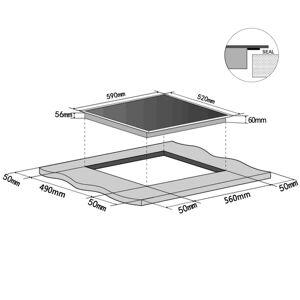vidaXL Placă de inducție din sticlă EUROKERA cu 4 plite încorporate