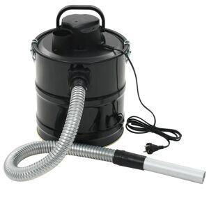 vidaXL Aspirator pentru cenușă cu filtru HEPA, 1000 W, 20 L, negru