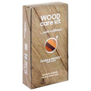 vidaXL Set de îngrijire a lemnului, CARE KIT, 2 x 250 ml