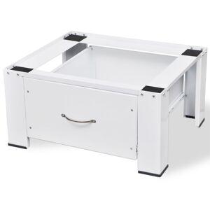 vidaXL Stativ mașină de spălat cu sertar, alb