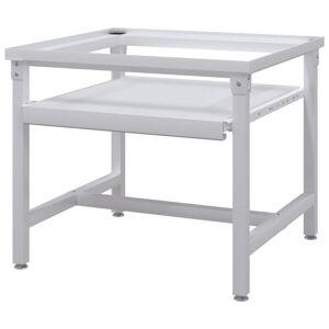 vidaXL Suport mașină de spălat cu raft retractabil, alb